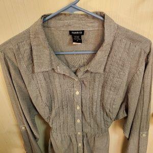 Torrid string-tie shirt